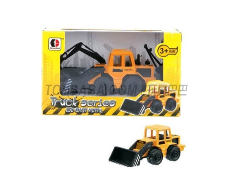 Sliding alloy construction vehicles - push the bucket (yellow ) No.:1813-1A