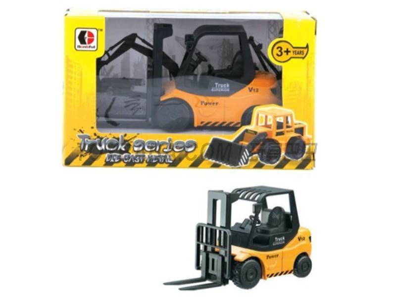 Sliding alloy construction vehicles - truck (yellow ) No.:1813-1B