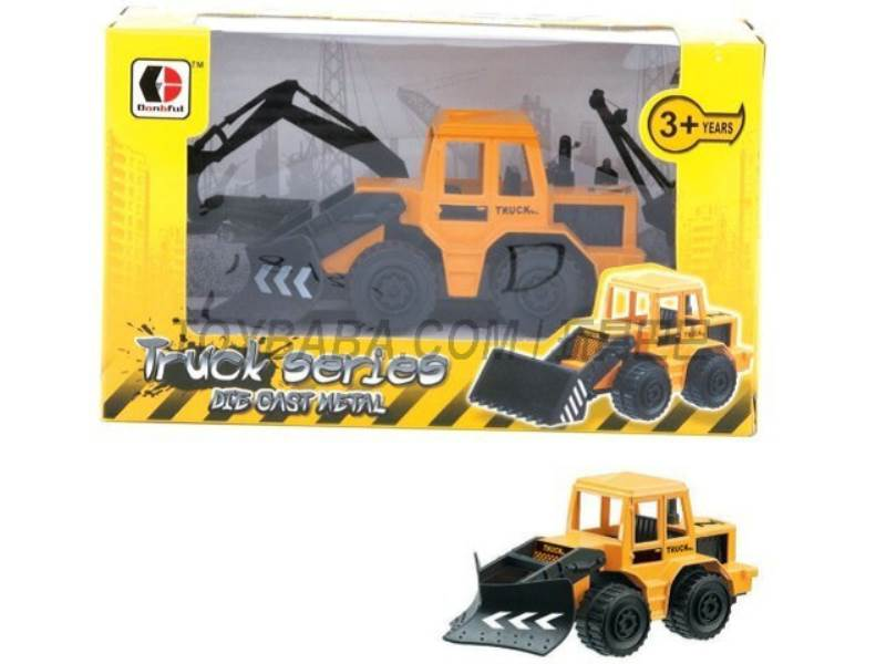 Sliding alloy construction vehicles - dozer (yellow ) No.:1813-1D