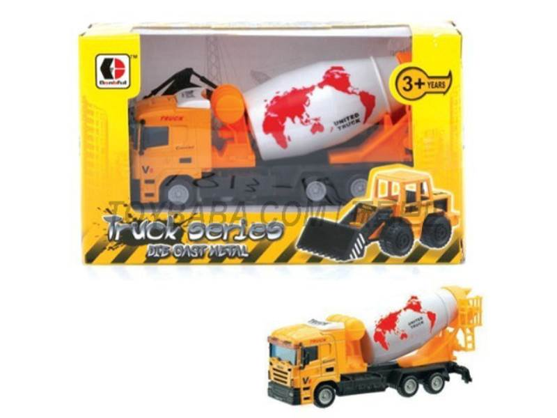 Sliding alloy construction vehicles - dump trucks ( yellow) No.:1813-1E