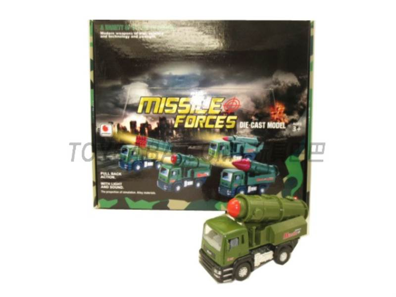 Alloy back military missile car ( sound and light music No.:BF019-B
