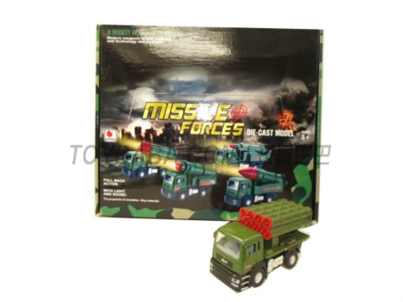 Alloy back military missile car ( sound and light music No.:BF019-C