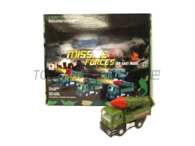 Alloy back military missile car ( sound and light music No.:BF019-D
