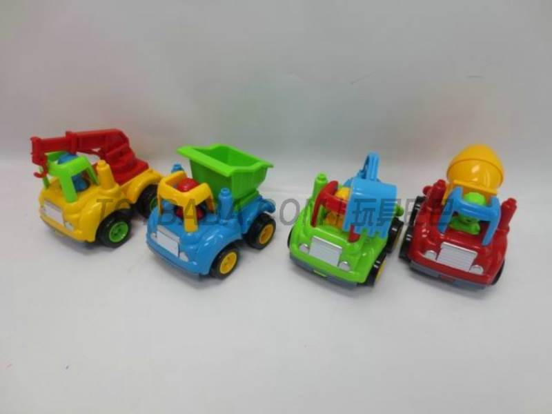 Inertia cartoon truck ( four mixed ) No.:6822