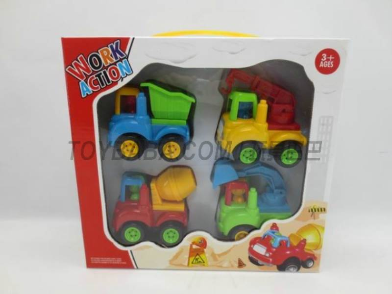 Inertia cartoon truck ( 4 Pack) No.:6825