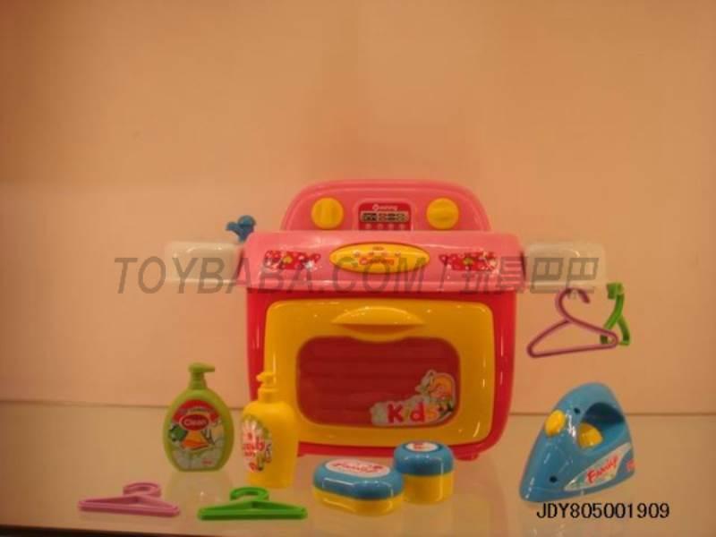 LIGHT AND SOUND washing machine storage box ( Pink ) No.:008-92