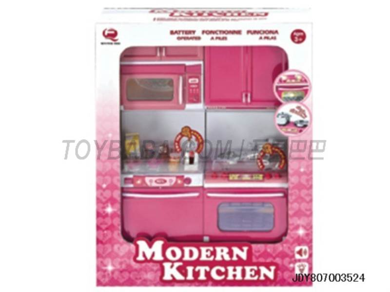 New edition pink kitchen combination ( light sound .2 AAA BATTERY ) No.:QF26213PW