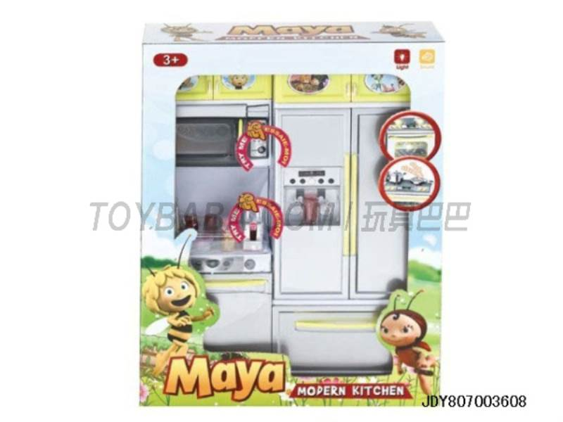 Bee Kitchen Sets ( light voice. Package 3 AG13 button ) No.:QF26215MY