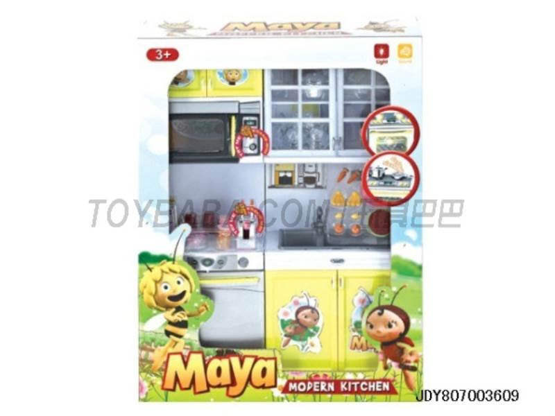 Bee Kitchen Sets ( light voice. Package 3 AG13 button ) No.:QF26216MY