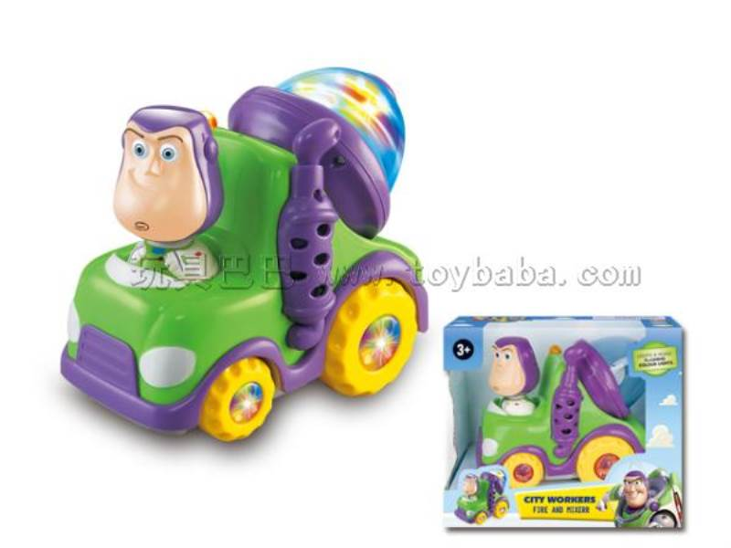 Electric universal Toy Story Bath engineering vehicles (with flash color gyro lights with music) No.:2004TS-2