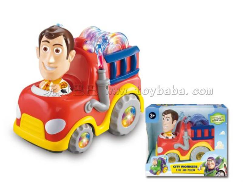 Electric Universal Toy Story Woody fire engines (with flash color gyro lights with music) No.:2005TS-1