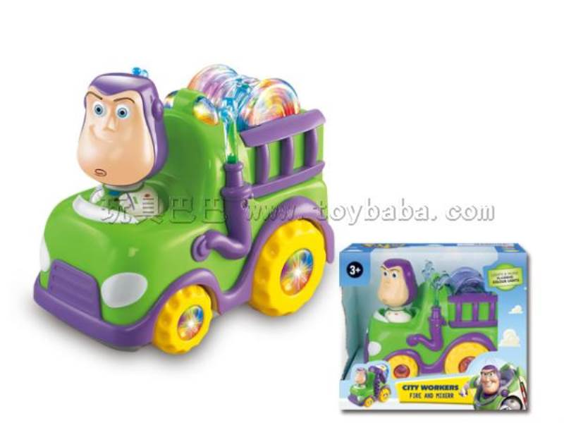 Bath fire engines the electric universal Toy Story (with flash color gyro lights with music) No.:2005TS-2