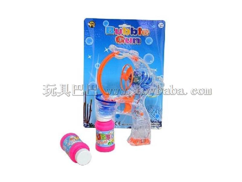 Transparent Big Bubble Double Flashing Automatic Bubble Gun with 2 Big Bubble Water No.:MY10080-2