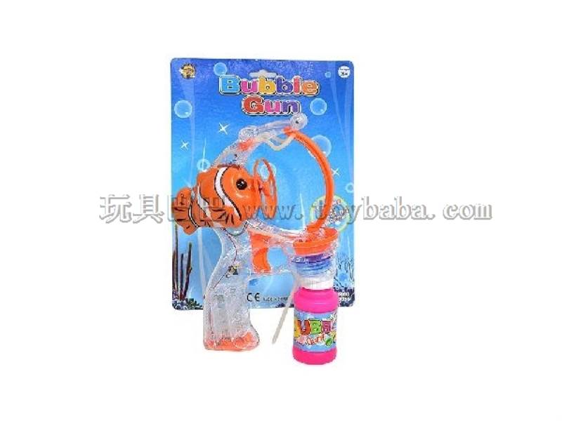 Transparent Big Bubble Double Spray-Paint Flashing Automatic Bubble Gun with 1 Big Bubble Water No.:MY10080P-1