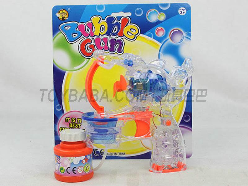 Transparent Medium Bubble Double Flashing Automatic Bubble Gun with 1 Big Bubble Water No.:MY10081-1