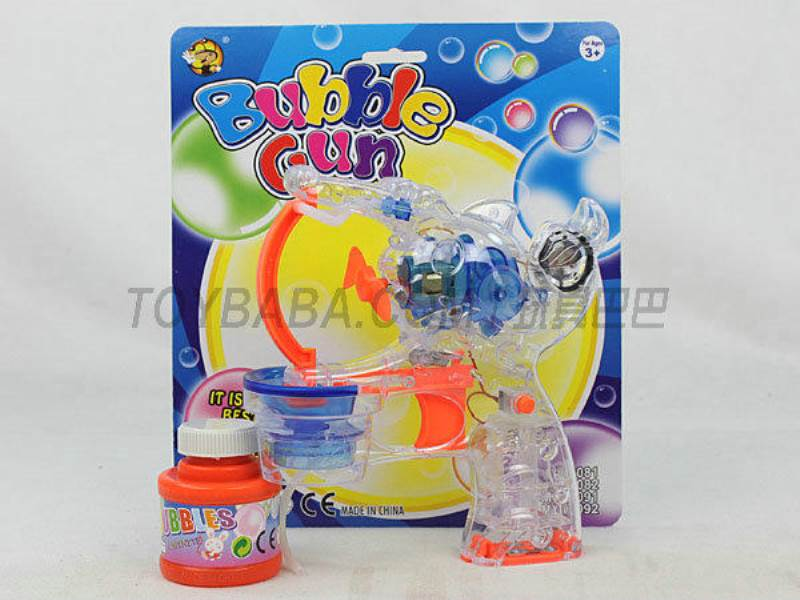 Transparent Medium Bubble Double Flashing Automatic Musical Bubble Gun with 1 Big Bubble Water No.:MY10081Y-1