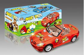 Electric Universal Racing Musical Cars with English Song-Angry Bird No.:0689F