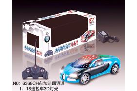 1:18 4 Channel RC Remote Control Bugatti Cars with 3D Lights Included Battery No.:6368CH