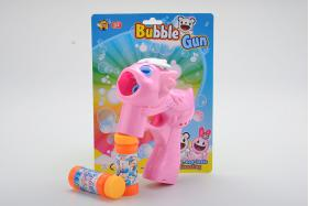 Solid Color Dragon Flashing Musical Bubble Gun with 2 Bubble Water No.:MY195Y-2