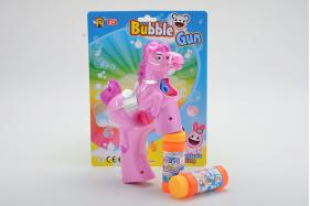 Solid Color Horse Flashing Musical Bubble Gun with 2 Bubble Water No.:MY193Y-2