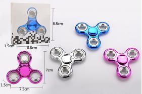 Plating EDC Fidget Spinner Hand Tri-Spinner Fidgets Anti Stress Toys No.:8816B
