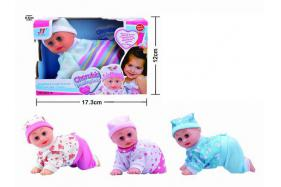 6.5 Inch electric sound singing and crawling doll No.:Aug-27