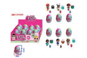 3-3.5 Inch surprise doll 6 public figures + 2 accessory eggs,12 pcs pet box (one style) No.:HT17588