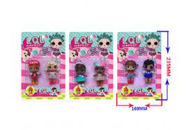 3-3.5 Inch surprise doll 2 pcs (three style) No.:HT17582