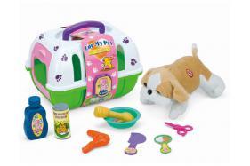 A pet basket with a puppy No.:109A