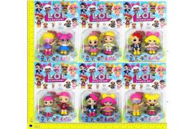 3.5 inch LOL surprise doll 2 only/card 6 style No.:H28217