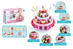 Children music cake toy (recording, light music, band blow out) No.:666-922