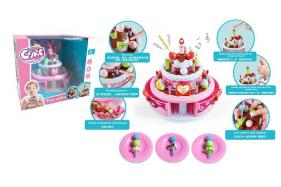 Children music cake toy (recording, light music, band blow out) No.:666-921