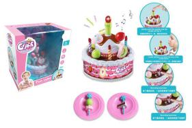 Children music cake toy (recording, light music, band blow out) No.:666-920