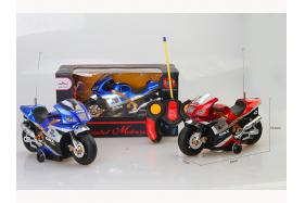 Remote control revolving motorcycle (with light, music, a second color red and blue) No.:8817