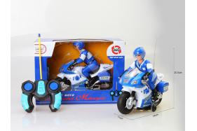 Remote rotating motorcycle (with light music, one color blue) No.:8816
