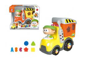 Electric universal striking sanitation trucks (with the light band music with puzzle blocks) No.:BE2003