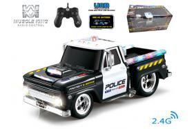 2.4G 6-channel 1:14 scale remote control muscle police truck with music No.:MK8029B