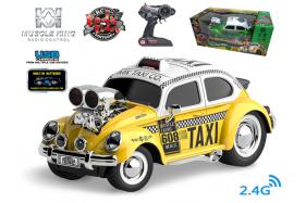 2.4G 6-channel 1:16 scale remote control muscle taxi with music and light No.:MK8132B