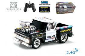 2.4G 6-channel 1:14 scale remote control muscle police truck with music No.:MK8129B