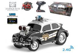 2.4G 6-channel 1:16 scale remote control muscle police car with music No.:MK8136B