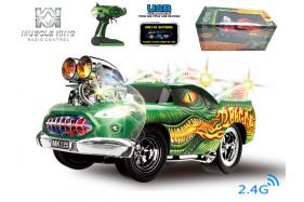 2.4G 6-channel 1:16 scale remote control muscle dragon car with pistol controller No.:MK8128B