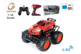 4-Function 2.4G R/C 1:16 off-road Car with rechargeable battery No.:OR2683B