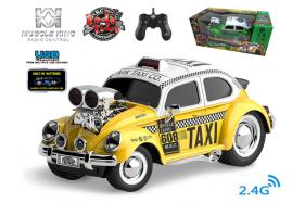 2.4G 6-channel 1:16 scale remote control muscle taxi with music and light No.:MK8133B