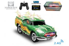 2.4G 6-channel 1:16 scale remote control muscle dragon car with handle-shape controller No.:MK8027B