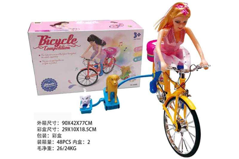 Electric bike toy Barbie Princess riding a bicycle No.TA246847
