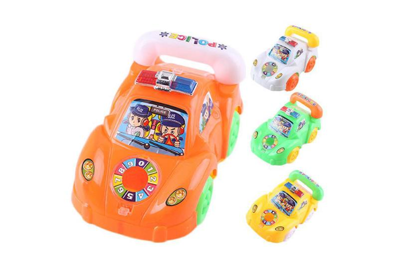 Solid color line telephone police car with light No.TA252184