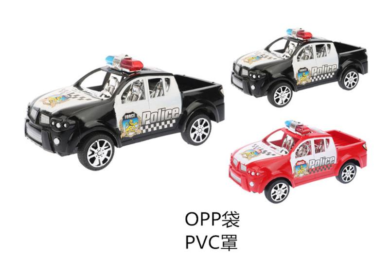 Inertia car toy Solid color inertia simulation police car No.TA253803