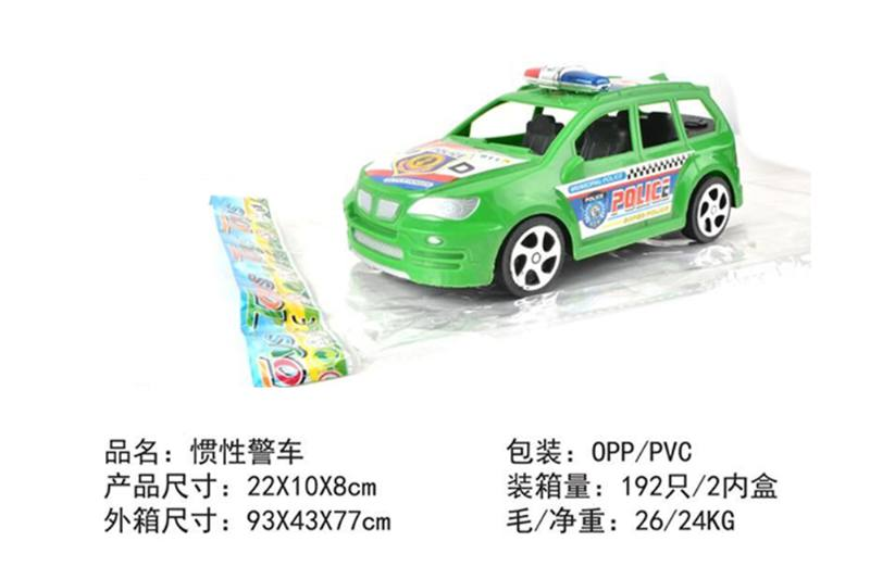 Friction car toys inertia toy police carNo.TA256373