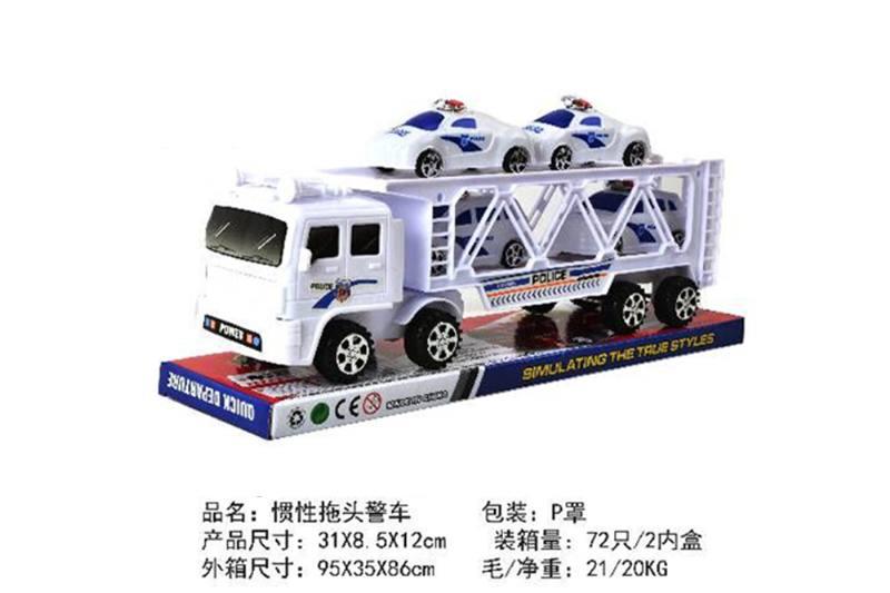 Friction car toys inertia toy police carNo.TA256380