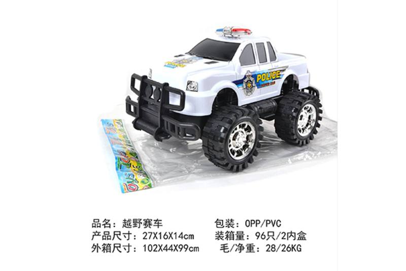 Friction car toys inertia toy Off-road police carNo.TA256384